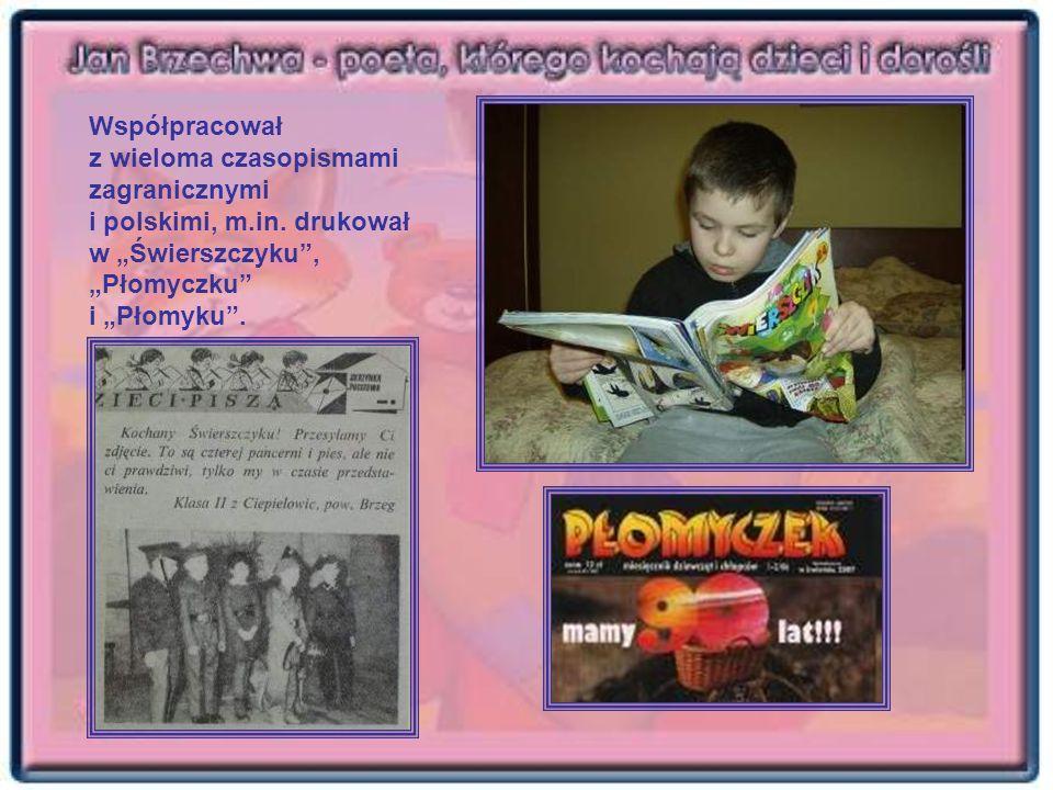 Współpracował z wieloma czasopismami zagranicznymi i polskimi, m.in. drukował w Świerszczyku, Płomyczku i Płomyku.