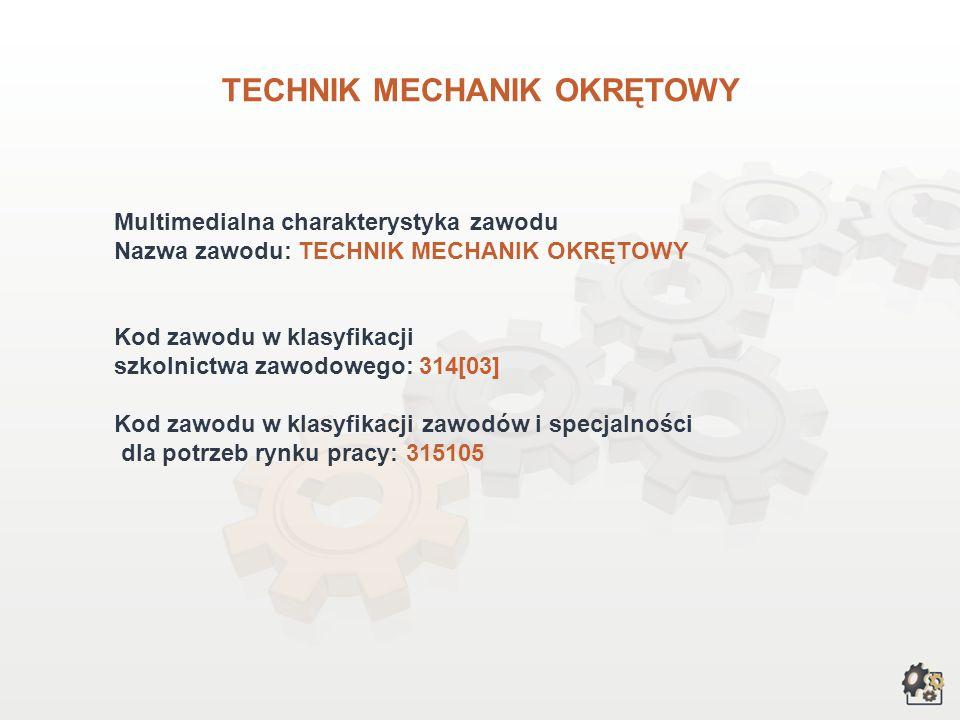 TECHNIK MECHANIK OKRĘTOWY wersja dla gimnazjum i szkół ponadgimnazjalnych