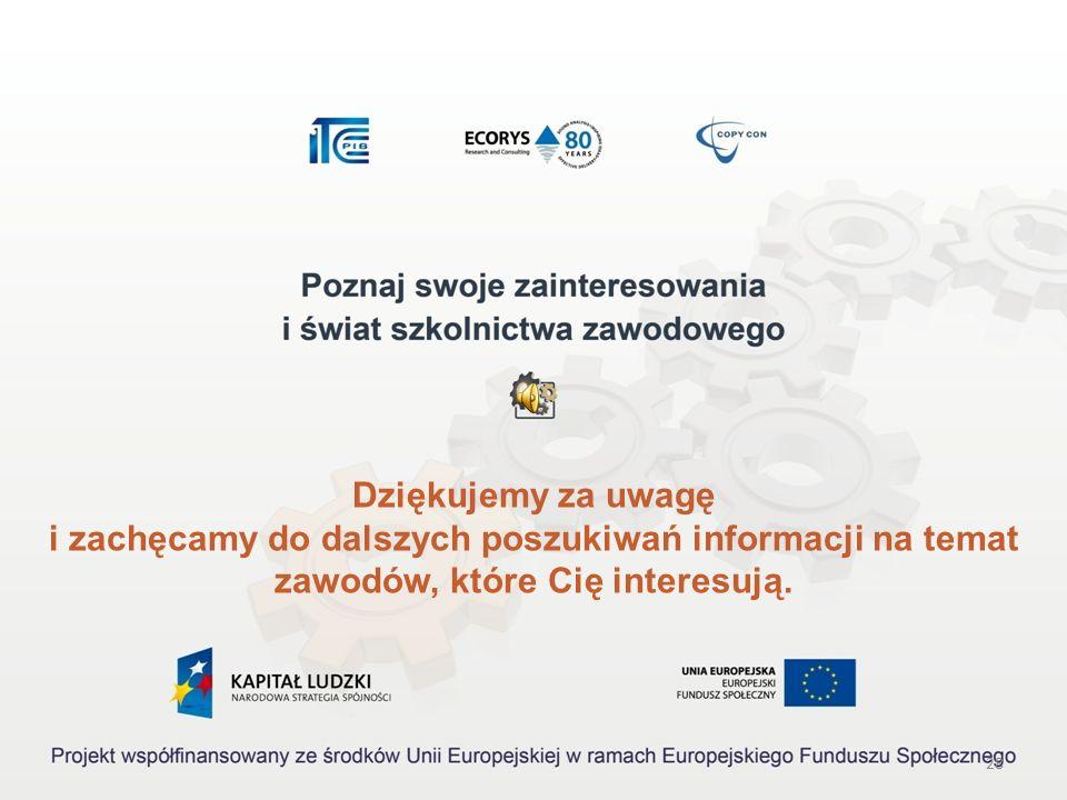 27 Źródła informacji Akty prawne: Rozporządzenie Ministra Pracy i Polityki Społecznej z dnia 27 kwietnia 2010 r. w sprawie klasyfikacji zawodów i spec