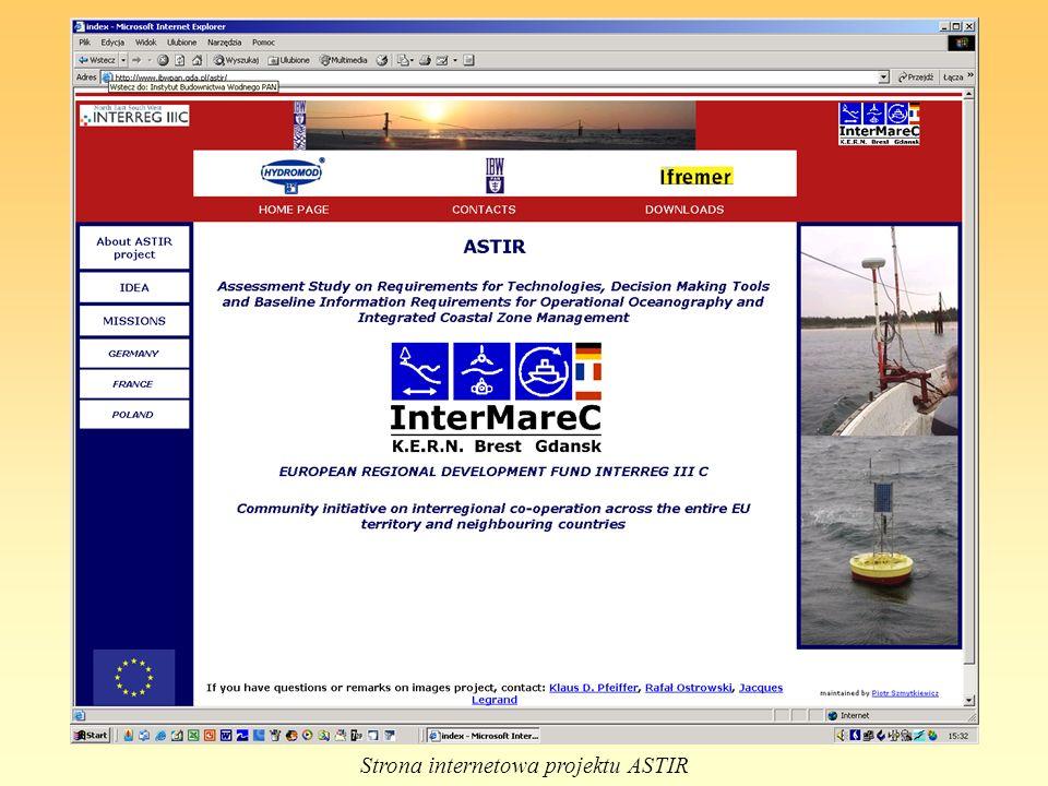 Strona internetowa projektu ASTIR