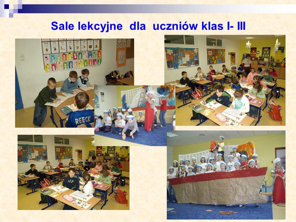 Sale lekcyjne dla uczniów klas I- III