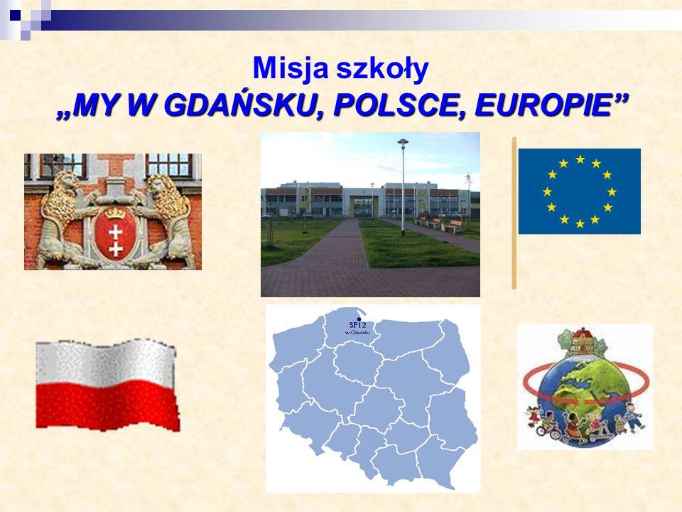 MY W GDAŃSKU, POLSCE, EUROPIE Misja szkoły MY W GDAŃSKU, POLSCE, EUROPIE