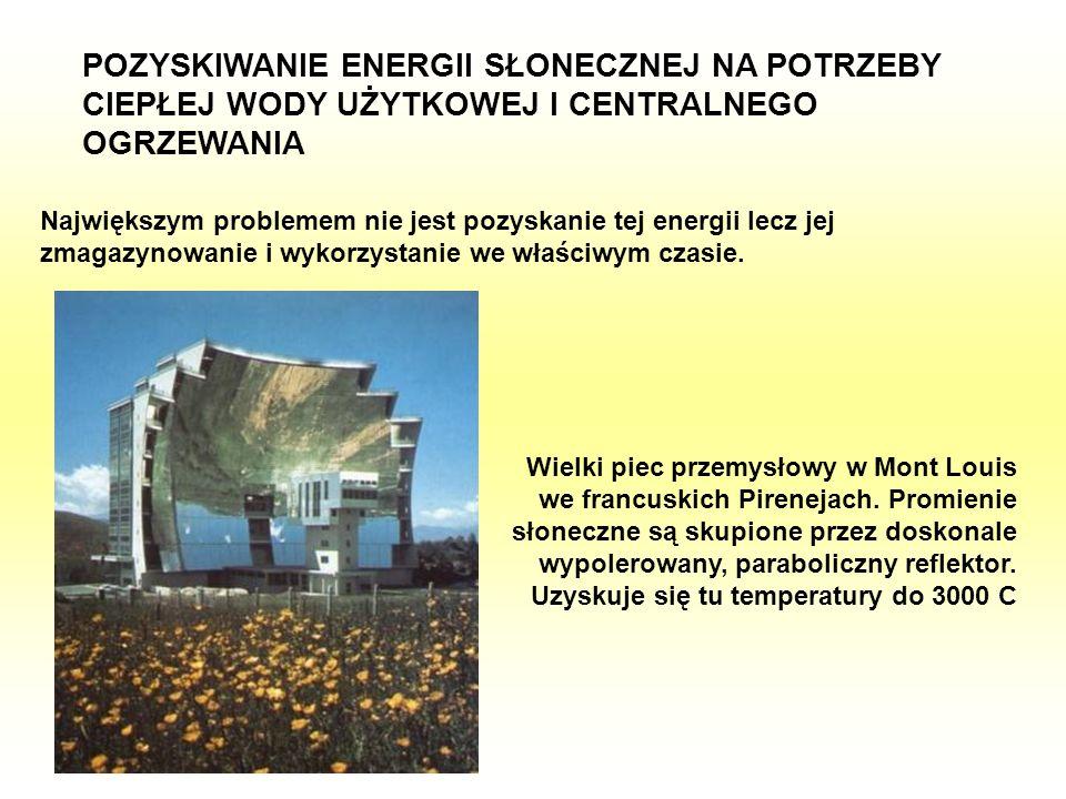 POZYSKIWANIE ENERGII SŁONECZNEJ NA POTRZEBY CIEPŁEJ WODY UŻYTKOWEJ I CENTRALNEGO OGRZEWANIA Największym problemem nie jest pozyskanie tej energii lecz
