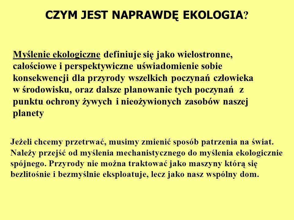 CZYM JEST NAPRAWDĘ EKOLOGIA .Prof.Haeckel, który wprowadził to określenie w roku 1869.