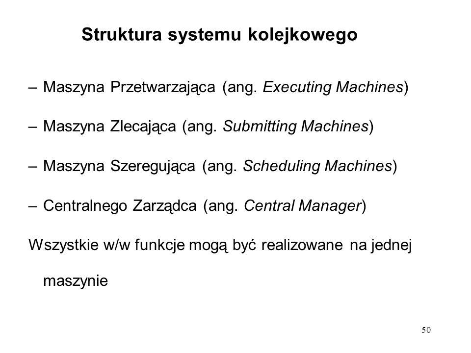 50 Struktura systemu kolejkowego –Maszyna Przetwarzająca (ang.