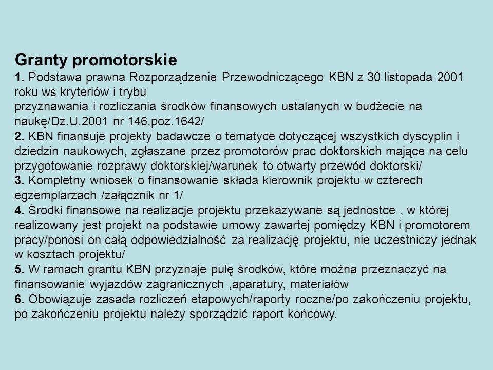Stypendia indywidualne dla naukowców 1.