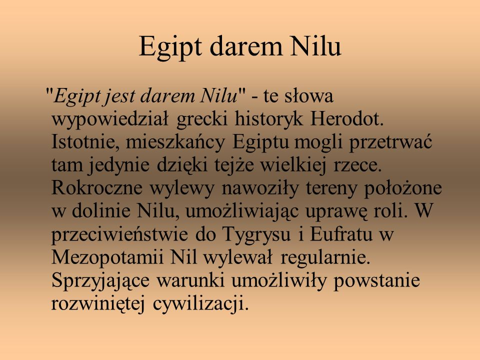 Egipt darem Nilu