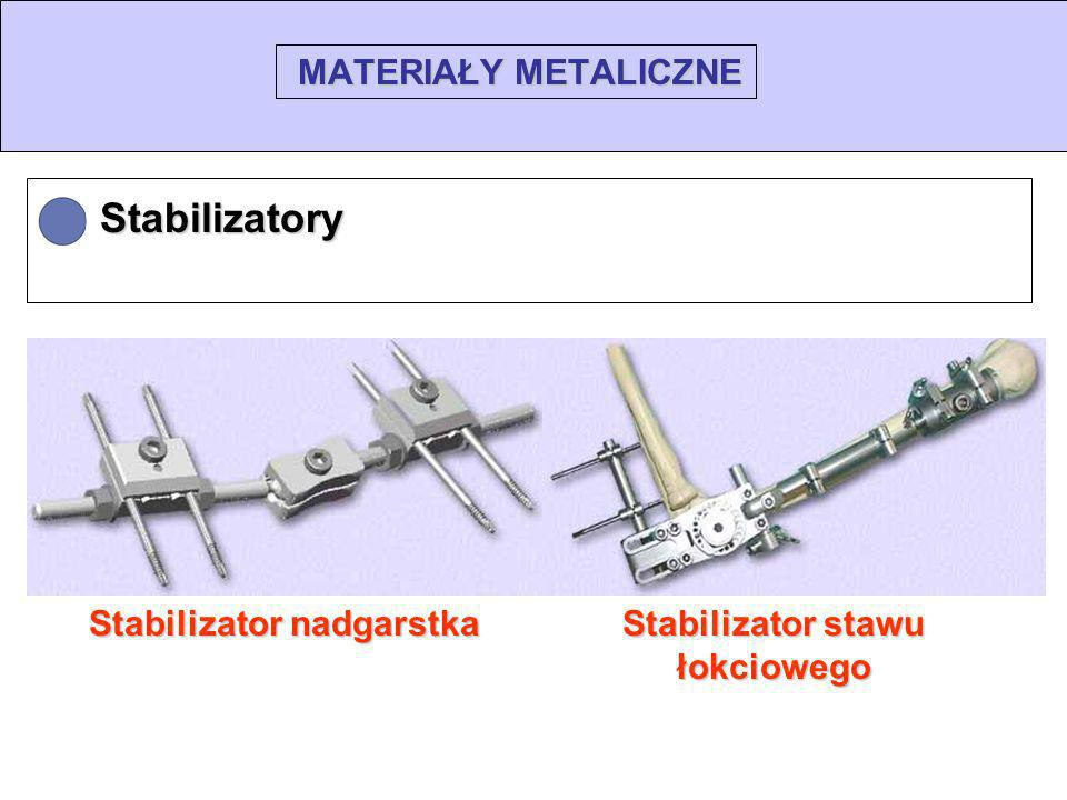 MATERIAŁY METALICZNE Stabilizatory Stabilizator nadgarstka Stabilizator stawu łokciowego