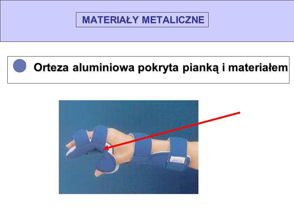 MATERIAŁY METALICZNE Orteza aluminiowa pokryta pianką i materiałem Orteza aluminiowa pokryta pianką i materiałem