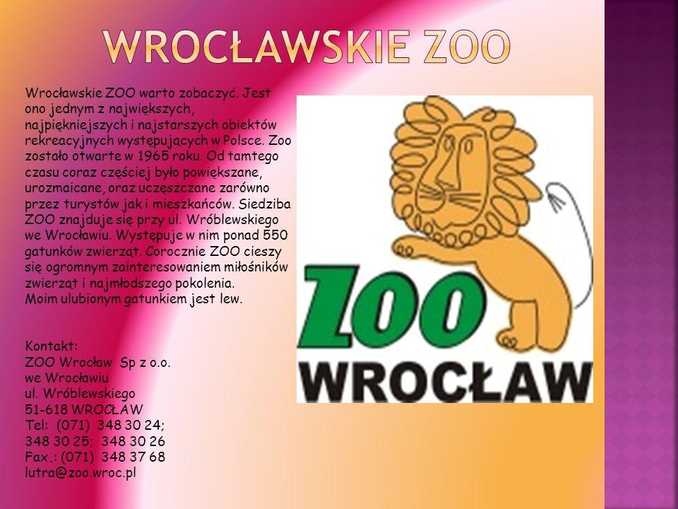 Wrocławskie ZOO warto zobaczyć. Jest ono jednym z największych, najpiękniejszych i najstarszych obiektów rekreacyjnych występujących w Polsce. Zoo zos