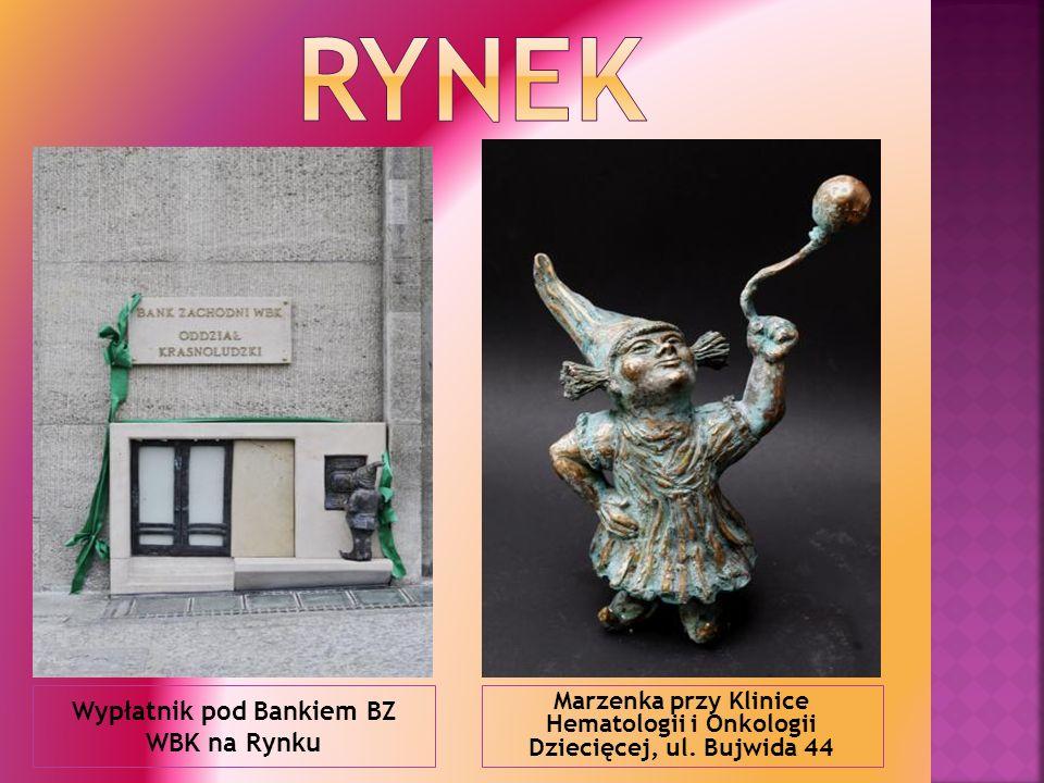 Wypłatnik pod Bankiem BZ WBK na Rynku Marzenka przy Klinice Hematologii i Onkologii Dziecięcej, ul. Bujwida 44