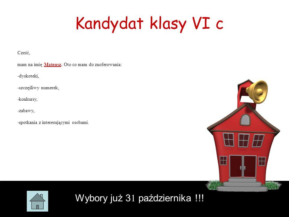 Głosowanie już 31 października!!! Wyniki poznacie tego samego dnia. Niech wygra najlepszy!!!