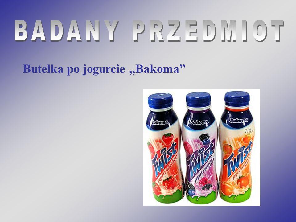 Butelka po jogurcie Bakoma