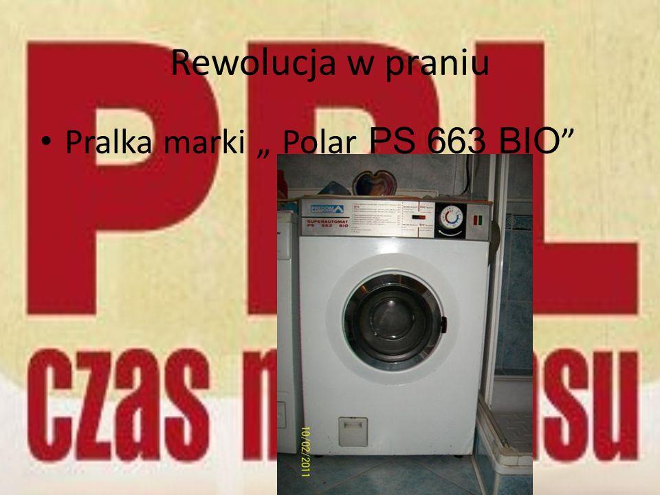 Rewolucja w praniu Pralka marki Polar PS 663 BIO