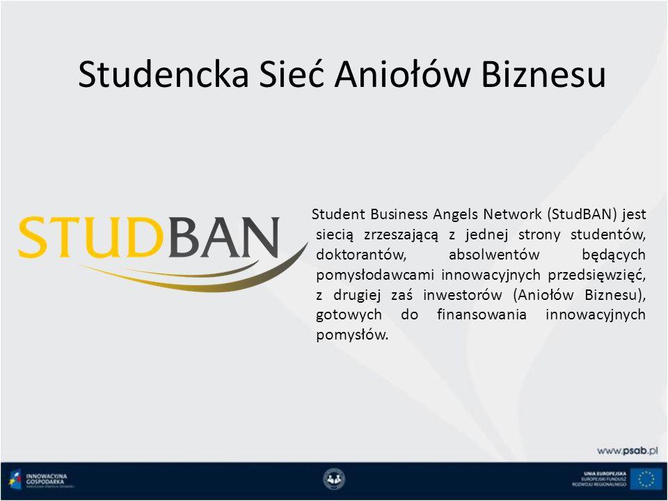 Studencka Sieć Aniołów Biznesu Student Business Angels Network (StudBAN) jest siecią zrzeszającą z jednej strony studentów, doktorantów, absolwentów będących pomysłodawcami innowacyjnych przedsięwzięć, z drugiej zaś inwestorów (Aniołów Biznesu), gotowych do finansowania innowacyjnych pomysłów.