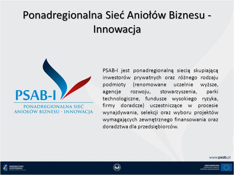 Ponadregionalna Sieć Aniołów Biznesu - Innowacja PSAB-I jest ponadregionalną siecią skupiającą inwestorów prywatnych oraz różnego rodzaju podmioty (renomowane uczelnie wyższe, agencje rozwoju, stowarzyszenia, parki technologiczne, fundusze wysokiego ryzyka, firmy doradcze) uczestniczące w procesie wynajdywania, selekcji oraz wyboru projektów wymagających zewnętrznego finansowania oraz doradztwa dla przedsiębiorców.