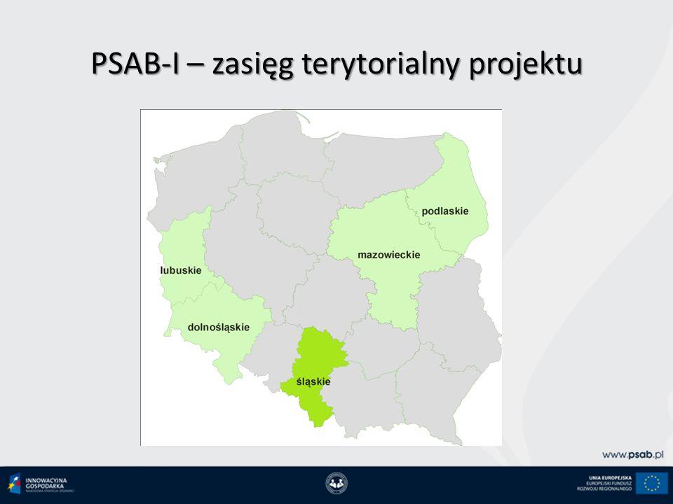 PSAB-I – zasięg terytorialny projektu