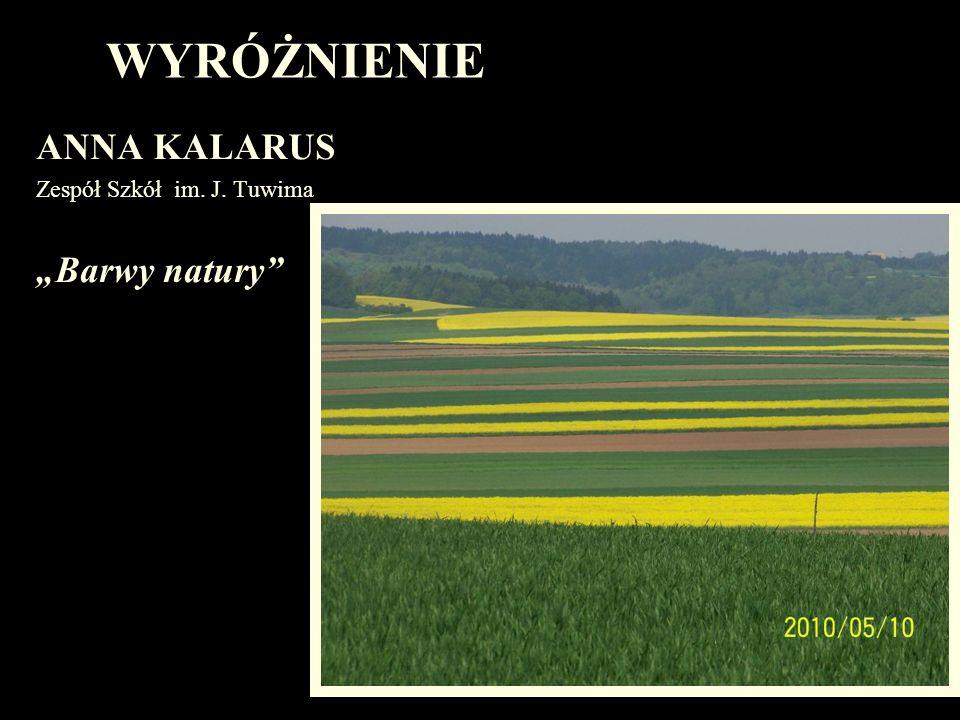 WYRÓŻNIENIE ANNA KALARUS Zespół Szkół im. J. Tuwima Barwy natury