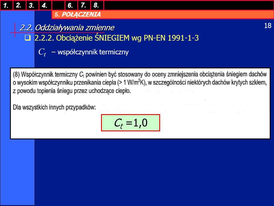 5.POŁĄCZENIA 1. 7. 3.4.6. 8.2. 18 2.2. Oddziaływania zmienne 2.2.2.