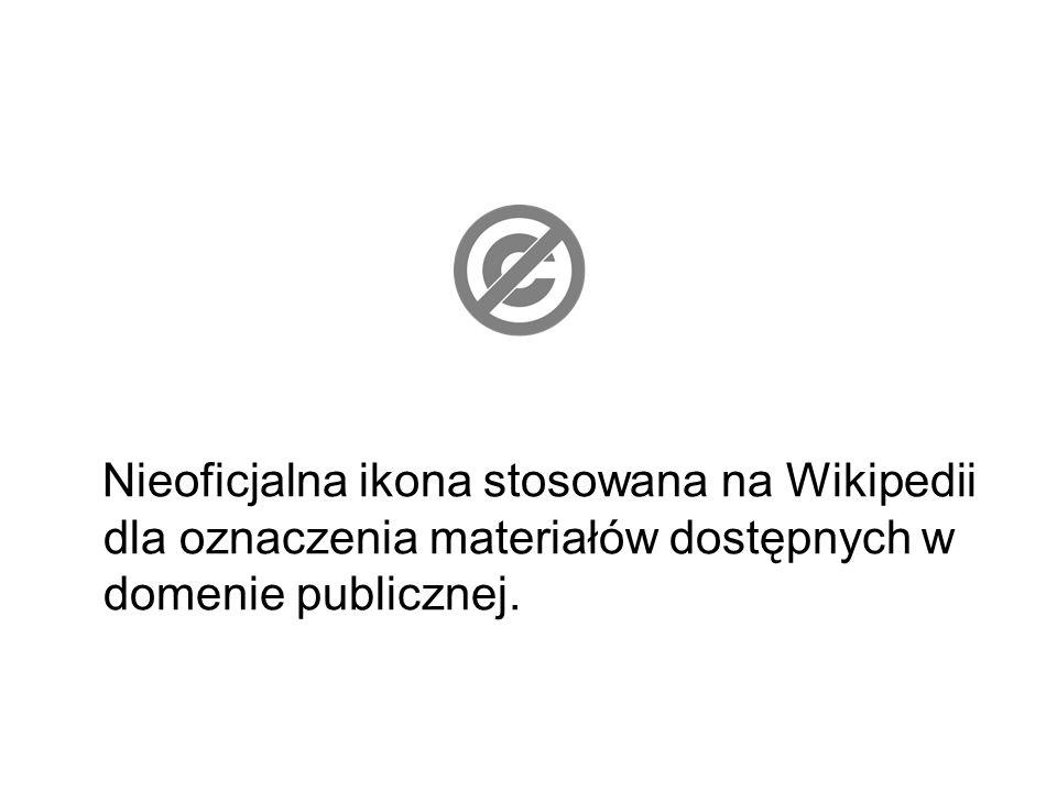 Nieoficjalna ikona stosowana na Wikipedii dla oznaczenia materiałów dostępnych w domenie publicznej.
