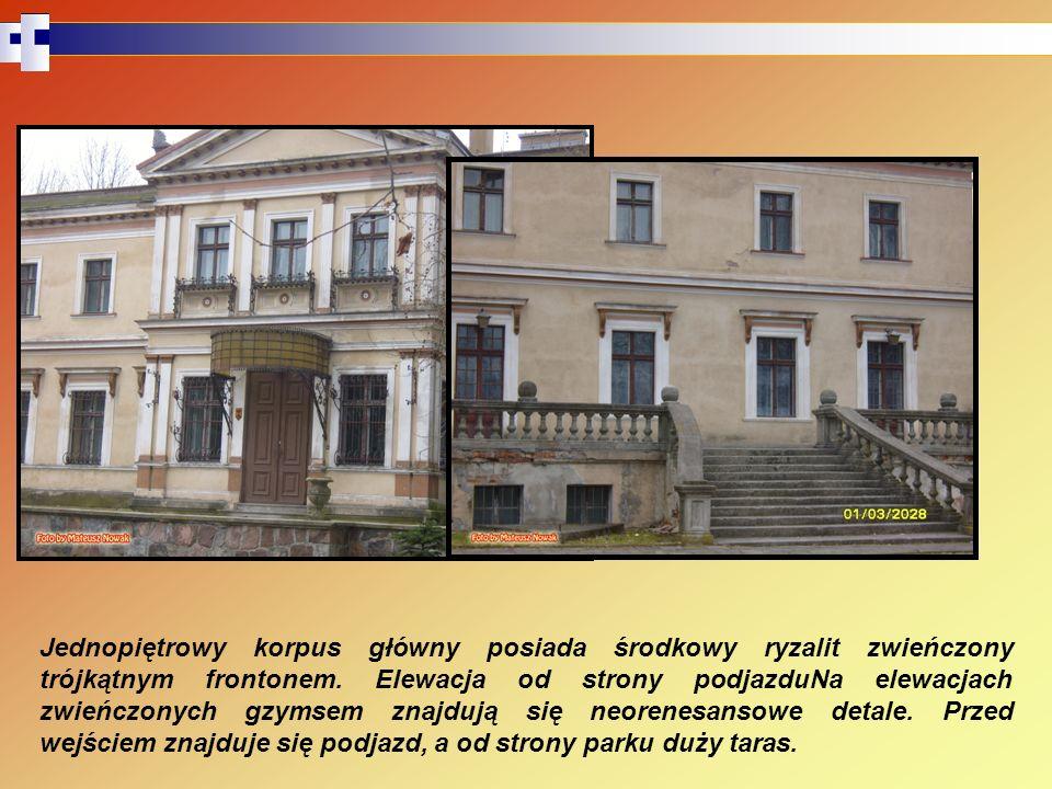 Podobnie jak w przypadku pałacu Chłapowskich w Turwi, budowla w Gorzyczkach jest otoczona parkiem.