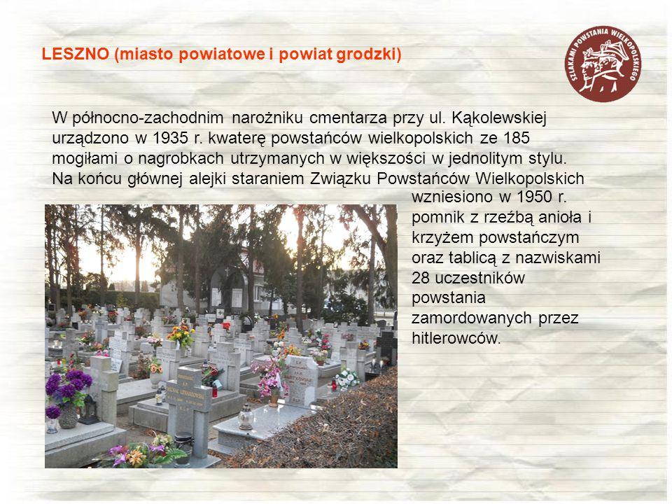 W północno-zachodnim narożniku cmentarza przy ul. Kąkolewskiej urządzono w 1935 r. kwaterę powstańców wielkopolskich ze 185 mogiłami o nagrobkach utrz