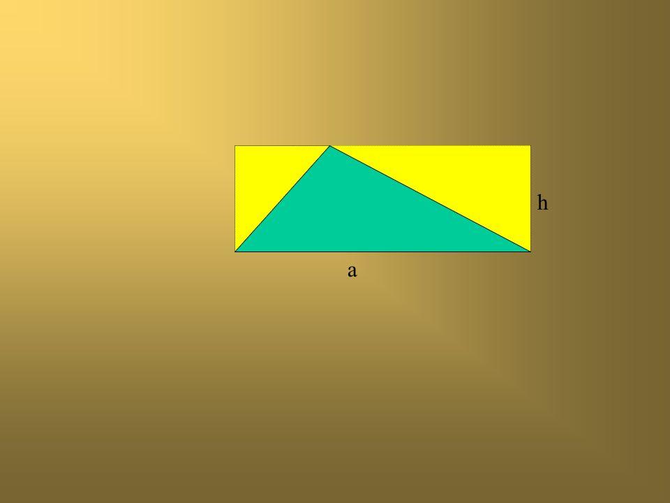 a h Jak obliczyć pole zamalowanego trójkąta?