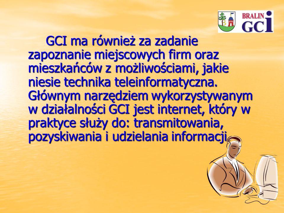 GCI ma również za zadanie zapoznanie miejscowych firm oraz mieszkańców z możliwościami, jakie niesie technika teleinformatyczna.