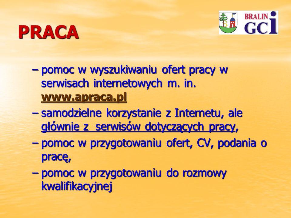 PRACA –pomoc w wyszukiwaniu ofert pracy w serwisach internetowych m.