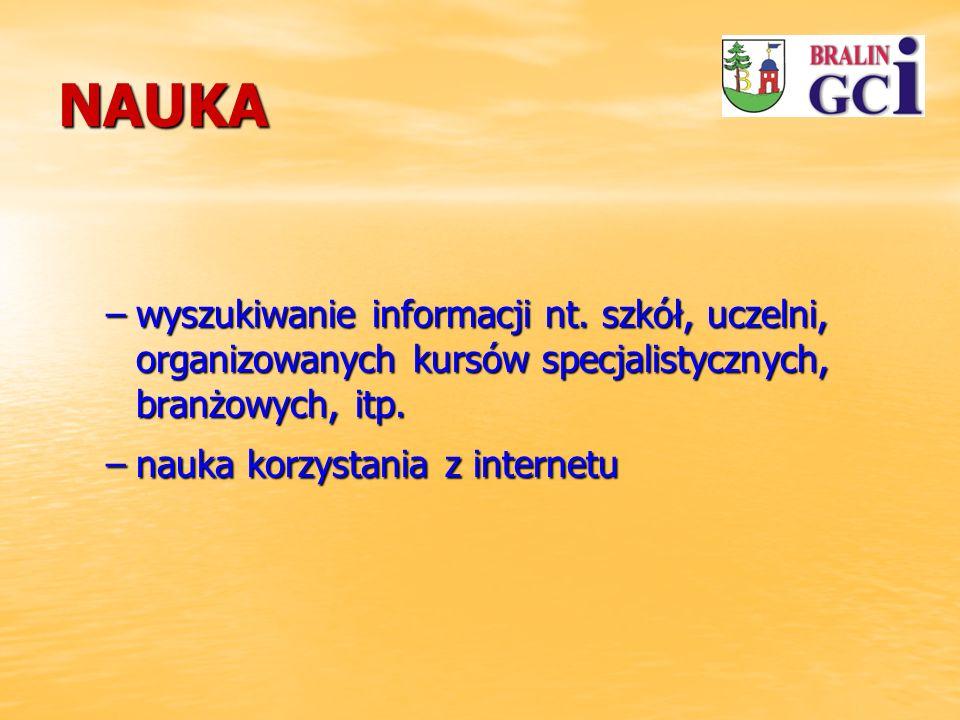 NAUKA –wyszukiwanie informacji nt.
