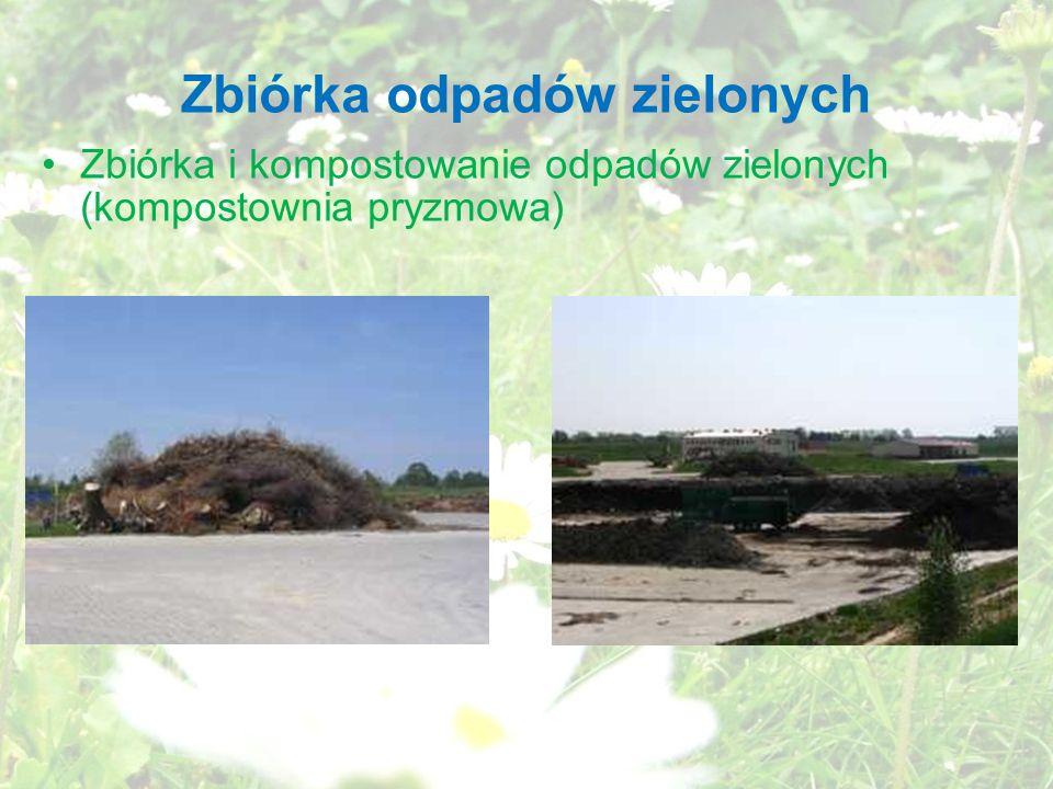 Zbiórka odpadów zielonych Zbiórka i kompostowanie odpadów zielonych (kompostownia pryzmowa)