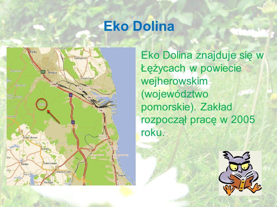 Eko Dolina Eko Dolina znajduje się w Łężycach w powiecie wejherowskim (województwo pomorskie).