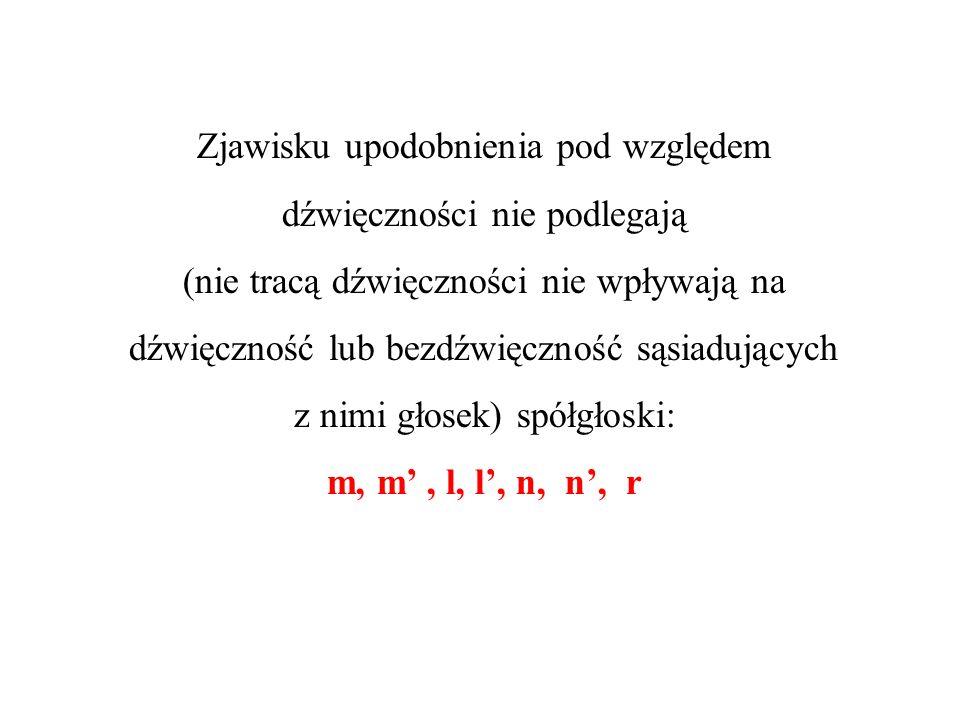 Zjawisko upodobnienia pod względem dźwięczności zachodzi także na granicy dwóch wyrazów.