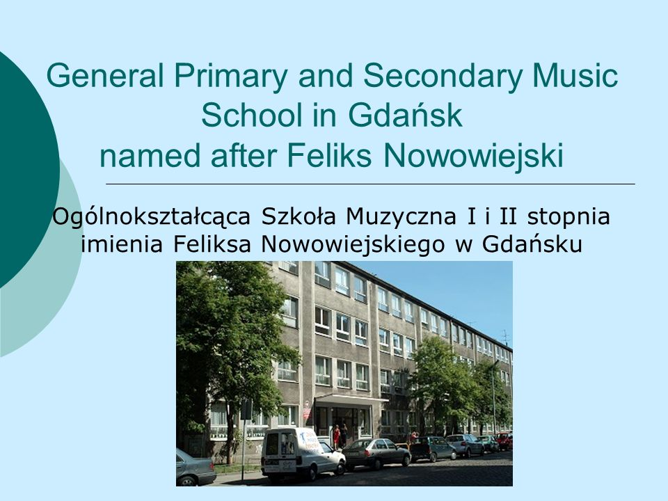 Music is our main subject Muzyka jest naszym głównym przedmiotem In our school everyone is interested in music.
