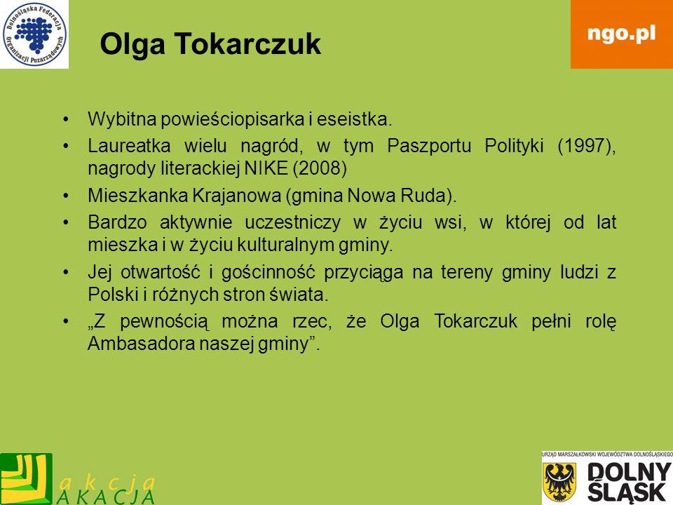 Olga Tokarczuk Wybitna powieściopisarka i eseistka. Laureatka wielu nagród, w tym Paszportu Polityki (1997), nagrody literackiej NIKE (2008) Mieszkank