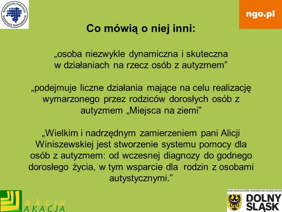 Małgorzata Siemież Założycielka Dolnośląskiego Ośrodka Osób Twórczych przy Towarzystwie Edukacji Otwartej.