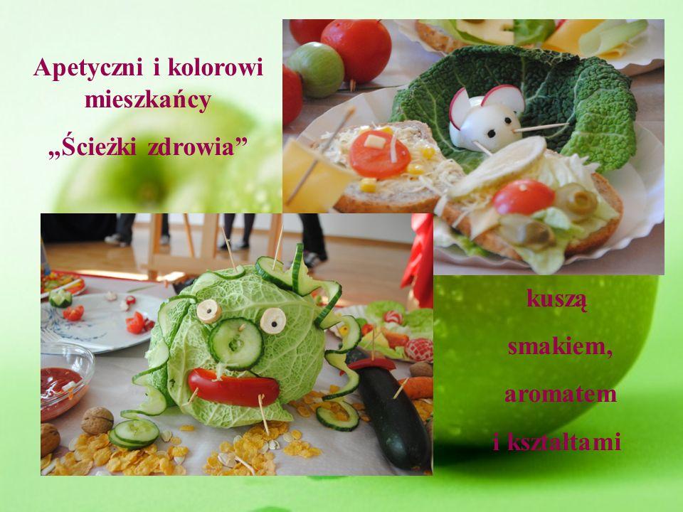 Apetyczni i kolorowi mieszkańcy Ścieżki zdrowia kuszą smakiem, aromatem i kształtami