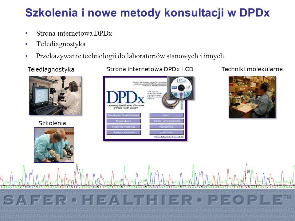 Szkolenia i nowe metody konsultacji w DPDx Strona internetowa DPDx Telediagnostyka Przekazywanie technologii do laboratoriów stanowych i innych Strona