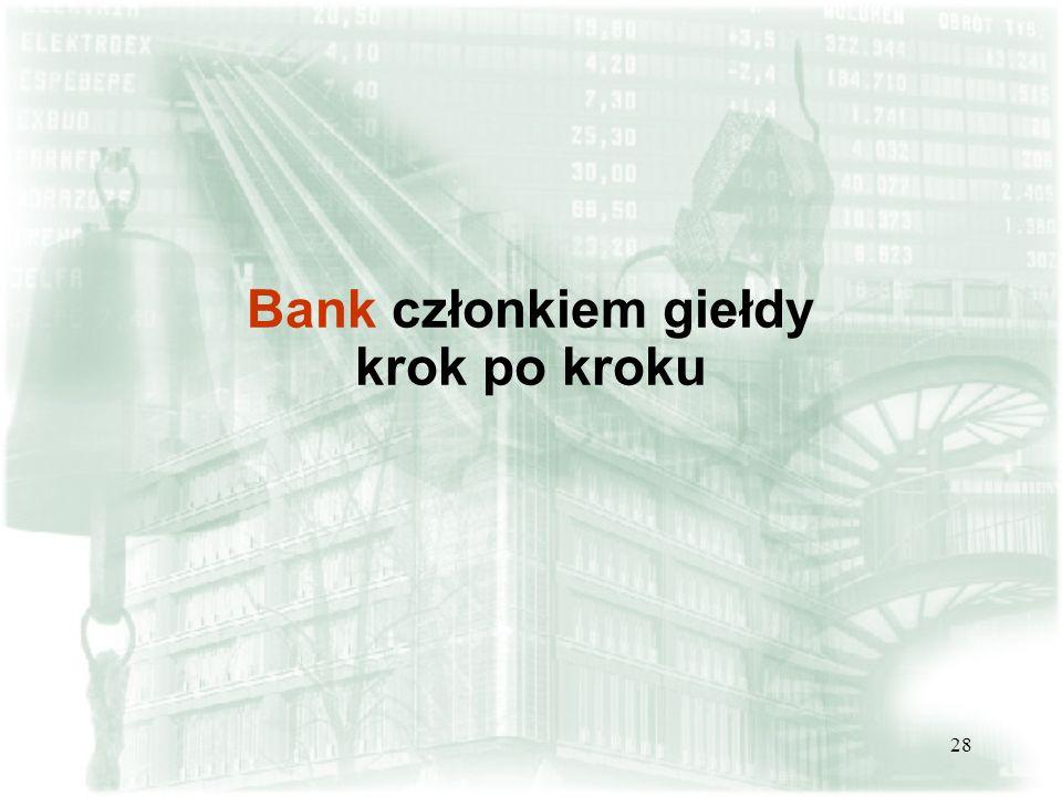 28 Bank członkiem giełdy krok po kroku