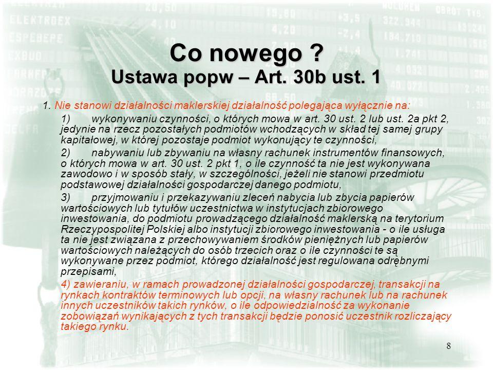 39 Czyli: Opłaty podstawowe – opłata roczna - 2500 zł Opłata za podłączenia informatyczne jednorazowa – zawieszona do końca 2005 kwartalna – 625 zł (500 za punkt dostępu i 125 za każdą stację roboczą) Koszty dodatkowe łącza teleinformatyczne do GPW
