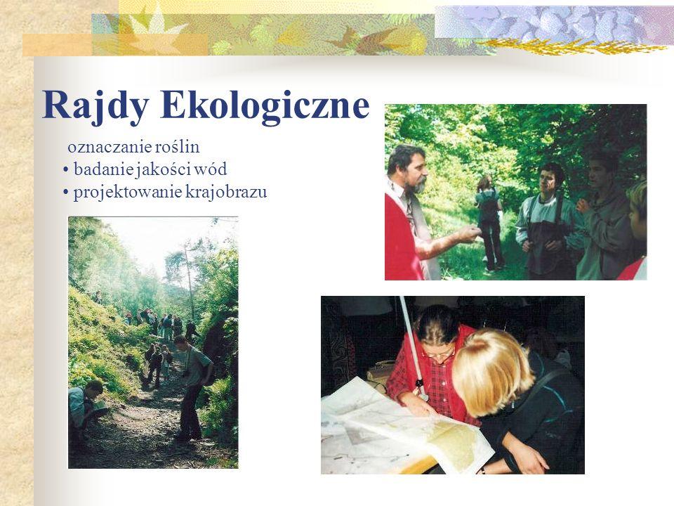 Rajdy Ekologiczne oznaczanie roślin badanie jakości wód projektowanie krajobrazu
