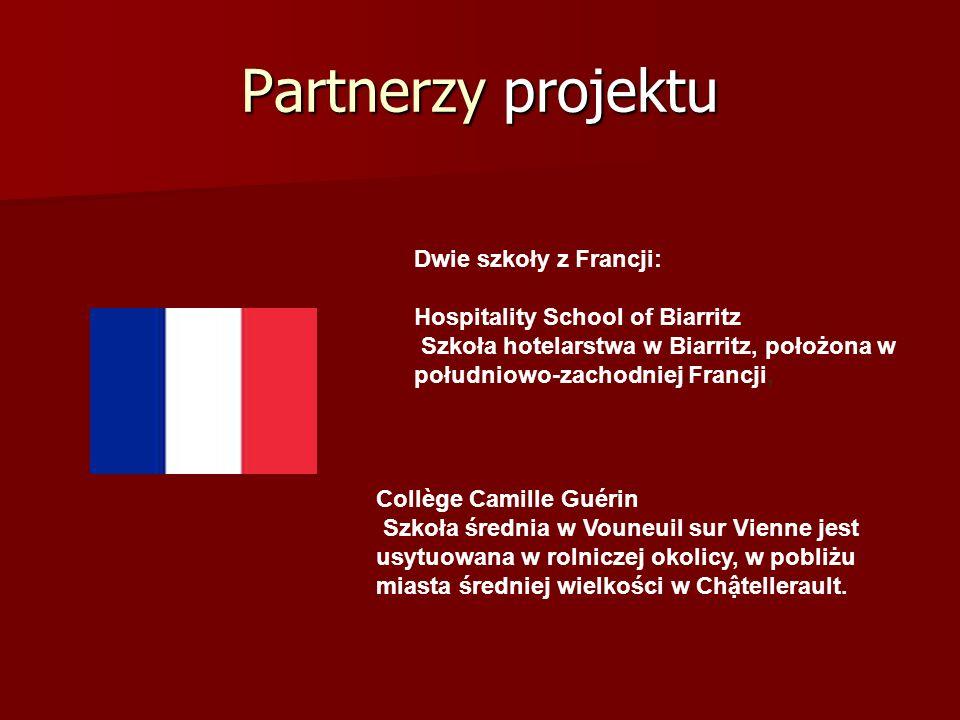Partnerzy projektu Collège Camille Guérin Szkoła średnia w Vouneuil sur Vienne jest usytuowana w rolniczej okolicy, w pobliżu miasta średniej wielkośc