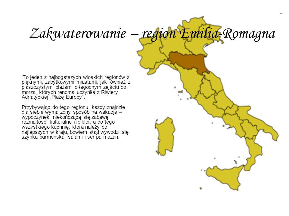 To jeden z najbogatszych włoskich regionów z pięknymi, zabytkowymi miastami, jak również z piaszczystymi plażami o łagodnym zejściu do morza, których