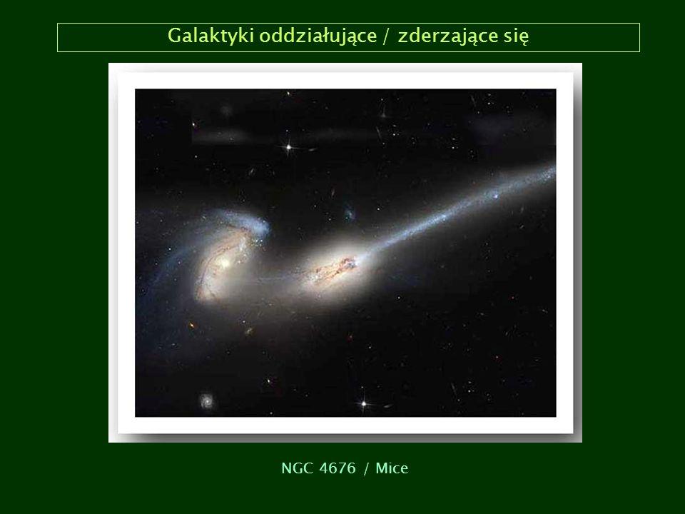 Galaktyki oddziałujące / zderzające się NGC 4676 / Mice