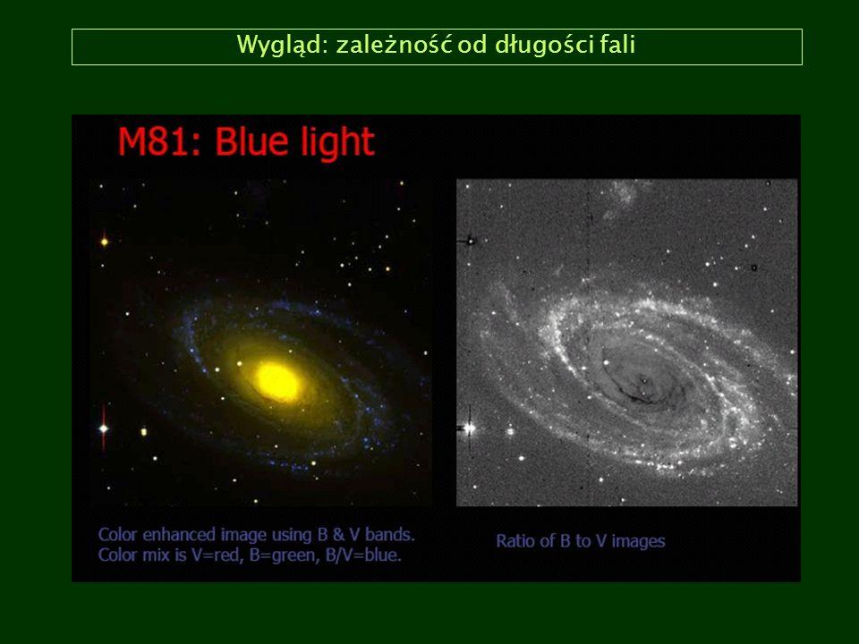 Klasyfikacja Hubblea: galaktyki spiralne (Sa/SBa) Sombrero (Sa, z boku) M65 (SBa, z boku) NGC 4622 (Sa) M83 (SBa)