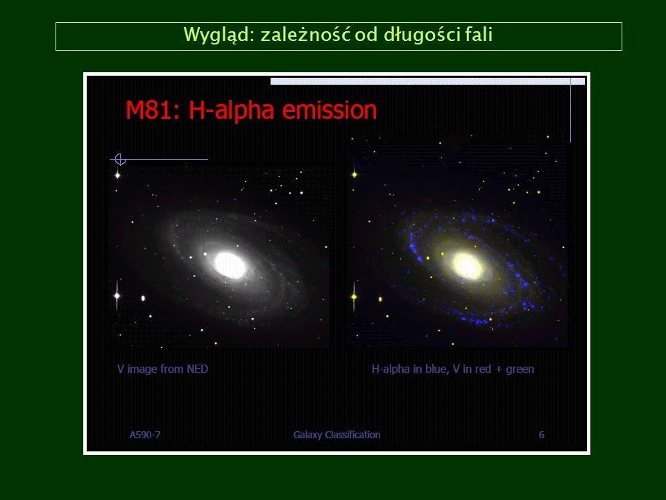 Klasyfikacja Hubblea: galaktyki spiralne (Sc/SBc) M74 (Sc) M100 (Sc) NGC 1365 (SBc)M83 (SBc)