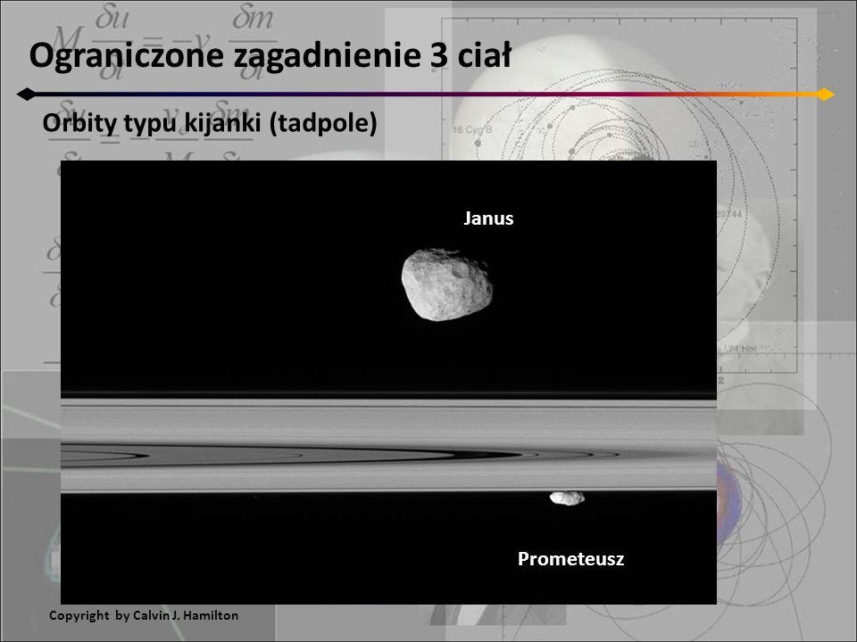 Ograniczone zagadnienie 3 ciał Orbity typu kijanki (tadpole) Janus Prometeusz Copyright by Calvin J. Hamilton