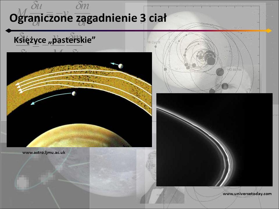 Ograniczone zagadnienie 3 ciał Księżyce pasterskie www.astro.ljmu.ac.uk www.universetoday.com
