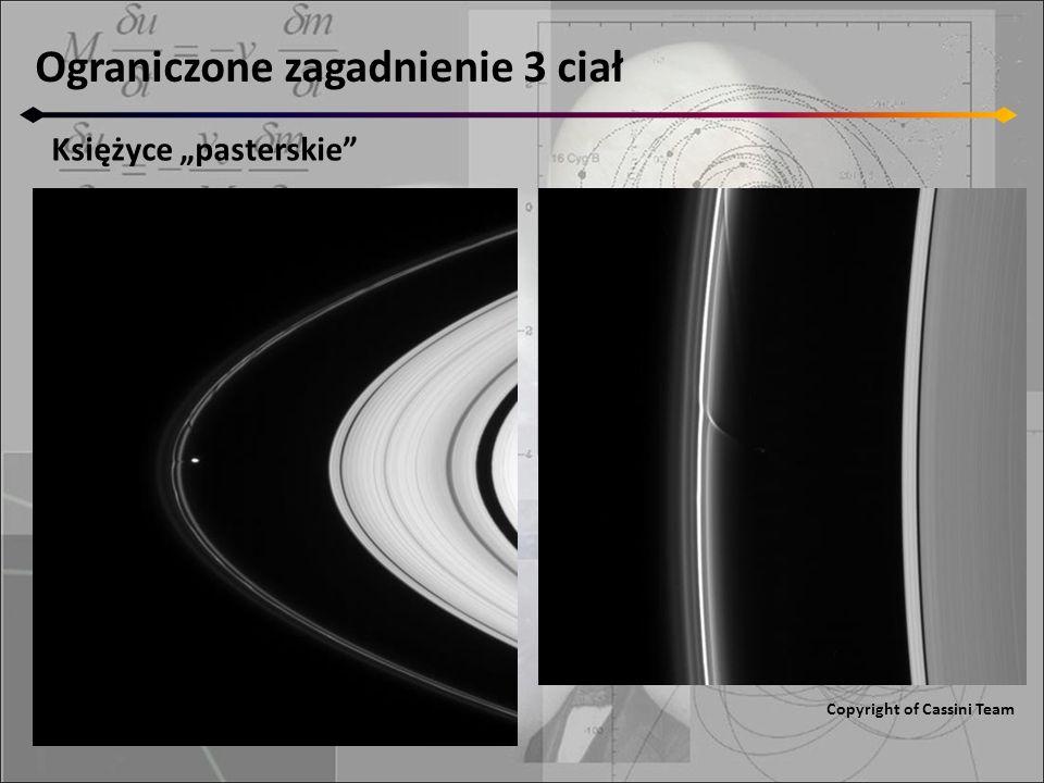 Ograniczone zagadnienie 3 ciał Księżyce pasterskie Copyright of Cassini Team