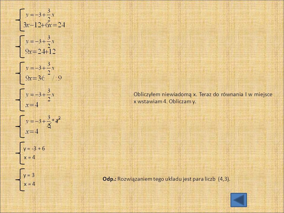 d) 3 (x + 1) = 5y - 8 Równanie doprowadzam do najprostszej postaci, wykonując wskazane działania.